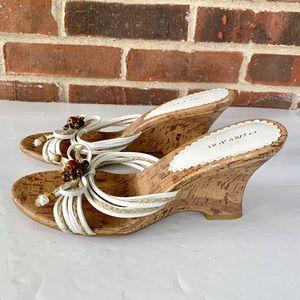 Covington wedge slip on sandals